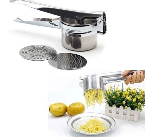 Olayer Stainless Steel Mash Potato Ricer Masher Fruit Vegetable Juicer Press Maker