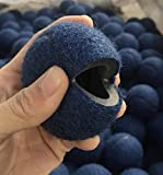 Quiet Glides PreCut Tennis Balls / 200 Count Bag/Blue/Small Golf Ball Size/Snug fit/Long Lasting/Heavy Duty Thickness/Chairs, desks, stools, Tables, Walkers etc.