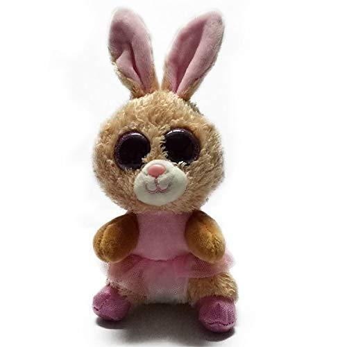 JEWH Ty Beanie Boos - Plush Animal Doll / Toy Owl, Unicorn, Cat, Mummy, Leopard, Trickster, Foxy, Dog, Rabbit, Dinosaur - Baby Girl Kids Toy ( Rabbit ) from JEWH