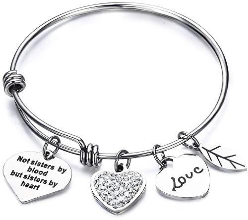 Luvalti Friendship Expandable Bangle Bracelet Adjustable Bangle Gift for Friends
