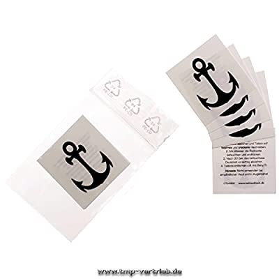 5 x petits tatouages d'ancrage - Petits Marin Ancre - Petits Anchor Autocollants