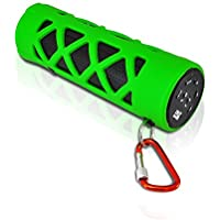 PYLE PWPBT30GN Bluetooth Water Resistant Flashlight Speaker with Call Answering Mic, FM Radio, Micro SD Reader & AUX-Input (Green)