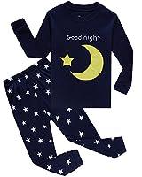 IF Pajamas Moon Stars Little Boys Girls Pajamas Sets Cotton Clothes Toddler Pjs