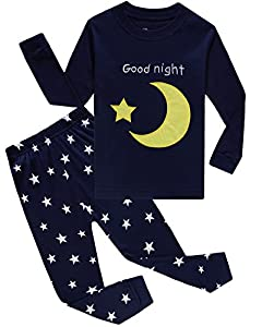 IF Pajamas Moon Stars Little Boys Girls Pajamas Sets Cotton Clothes Toddler Pjs