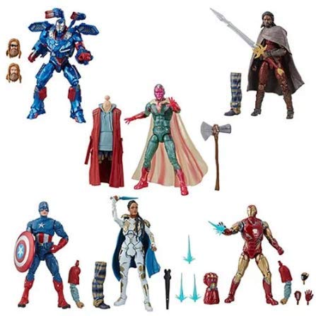 Avengers: Endgame Marvel Legends Wave 3 Set of 6 Figures (Thor BAF)
