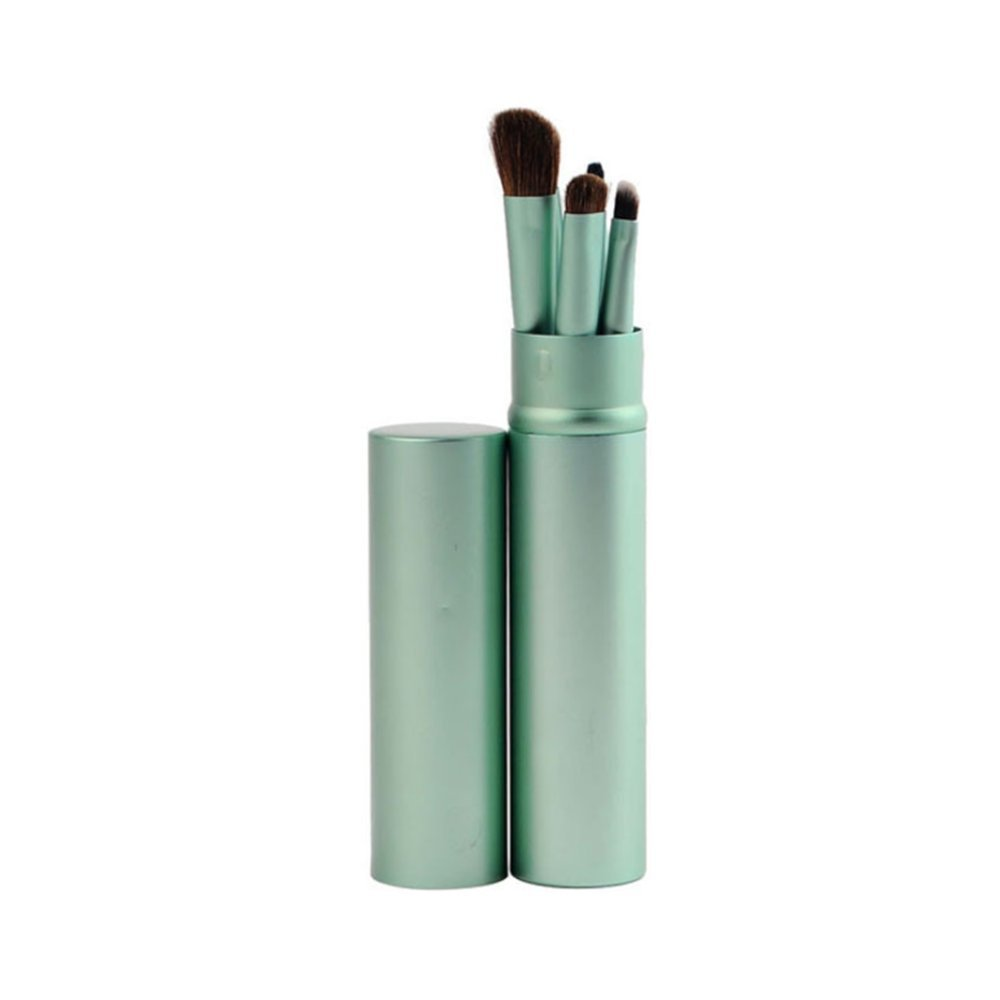 Beauty Tools for Makeup Artist Portable 5-stick Package of Eye Brush &Cosmetic Brush & Make-up Tools(GREEN) ISHENZU