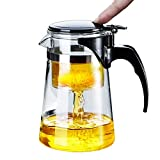 WarmCrystal, Glass Perfect Tea Maker Teapot, Teapots Strainer Included (19 oz)