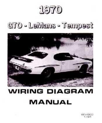amazon com 1970 pontiac gto le mans tempest wiring diagrams automotive rh amazon com