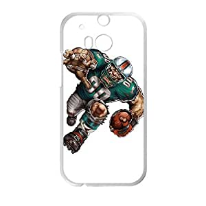 Miami Dolphins HTC One M8 Cell Phone Case White persent zhm004_8459275