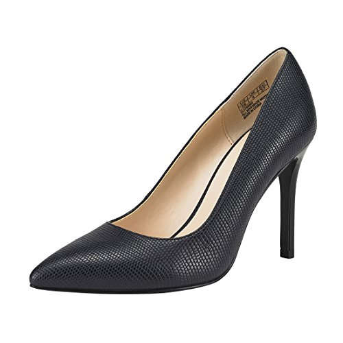 JENN ARDOR Stiletto High Heel Shoes for Women: Pointed, Closed Toe Classic Slip On Dress Pumps-Navy 7.5 B(M) US