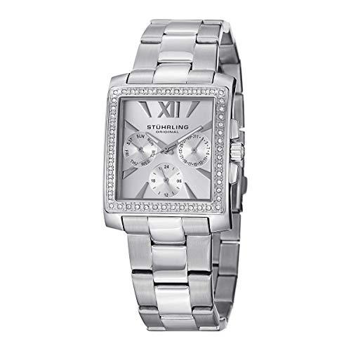 Stuhrling Original Women's 540.01 Victoria Quartz Multifunction Swarovski Stainless Steel Watch (Women Stuhrling Watches)