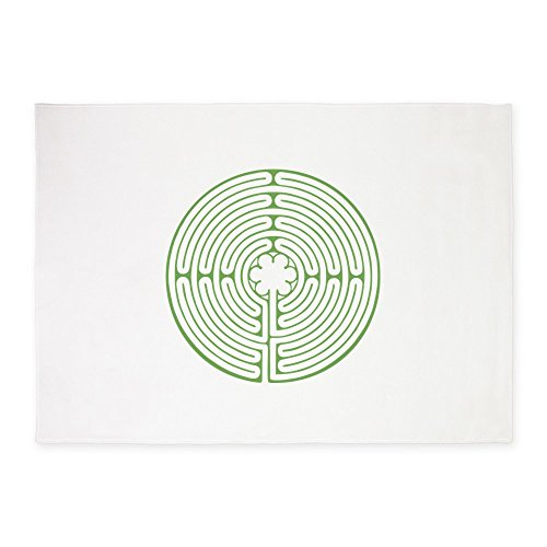 (CafePress Green Chartres Labyrinth Decorative Area Rug, 5'x7' Throw Rug)