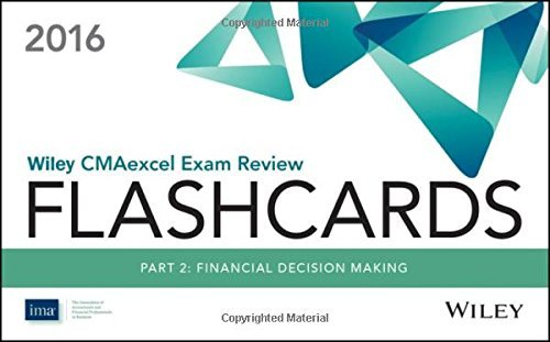 Wiley CMAexcel Exam Review 2016 Flashcards: Part 1, Financial Planning, Performance and Control by IMA (2015-07-27)