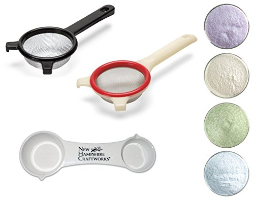 Bullseye Glass Frit Sifters, Frit Samplers and NHC Frit Spoon Set - Essential Glass Studio Collection