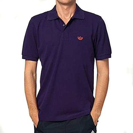adidas Originals Adi Polo Piqué Camiseta, Color Morado, Hombre ...