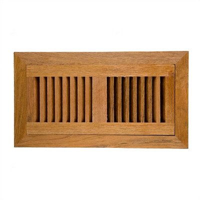 Brazilian Cherry Wood Vent Cover With Frame & Metal Damper Size: 4