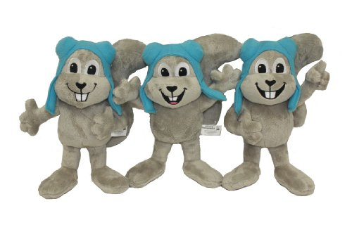 Multipet Rocky The Squirrel Officially Licensed Plush Squeak Dog Toy, 10-Inch