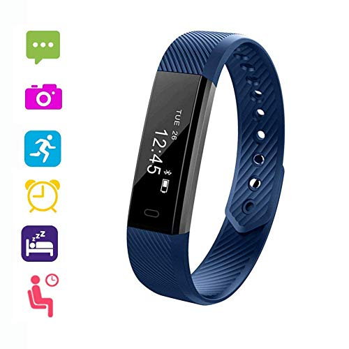VeeEx Fitness Tracker, Activity Tracker, Bluetooth 4.0 Smart Bracelet as Step Counter, Sleep Quality Monitor, Pedometer Watch for iPhone X/8/7/6/SE, iPad, Samsung Galaxy S9/S8/S7