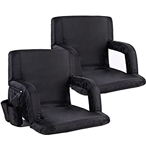 Sportneer Stadium Seat Portable Seats Chairs for Bleachers with Backs and Padded Cushion by Sportneer
