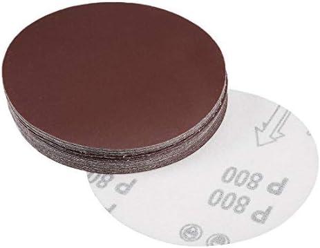 - 5-inch sanding disc, 800 grains, aluminum oxide sandpaper, back sandpaper for sanders, 25 pieces