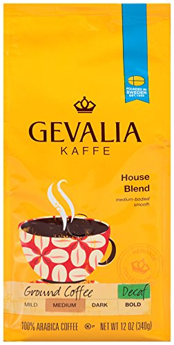 GEVALIA House of ill repute Blend Coffee, Decaf, Medium, Ground, 12 Ounce
