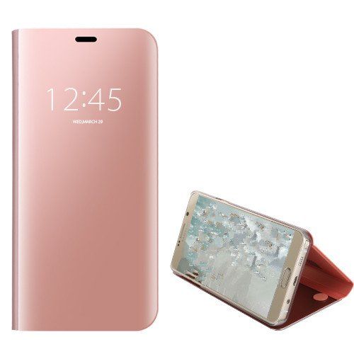 Funda® Mirror Plating Flip Case for Huawei Mate 10 Lite/Huawei Honor  9i/Huawei Nova 2i (Rose Gold)