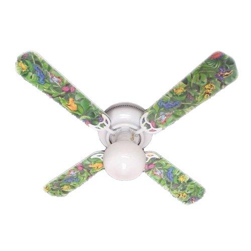 Ceiling Fan Designers Ceiling Fan, Tropical Rainforest Frogs Frog, 42