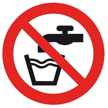 Cartel de Seguridad para Prohibir el Agua Potable, 100 mm ...