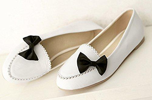 Ballerines Confortable Blanc Talon N Aisun Plat Femme ud Papillon 0q7AF85A