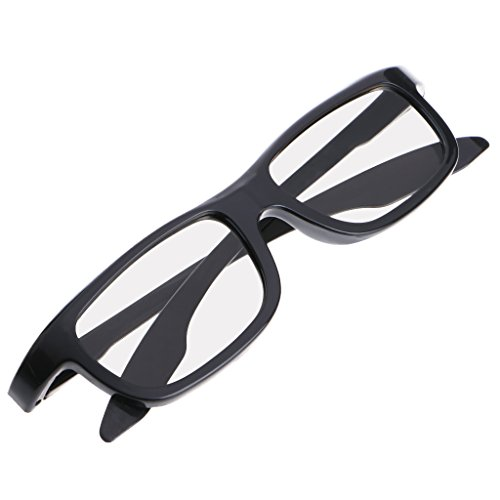 HOWWOH Circular Polarized Passive 3D Stereo Glasses Black RD3 for TV Real D 3D ()