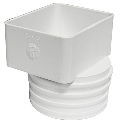 Canplas bc pvc sew x flush downspout adapter for