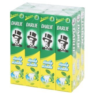 Darlie Double Action Toothpaste with fluoride at 35 x 12 g - Toothpaste Only Whitening Natural