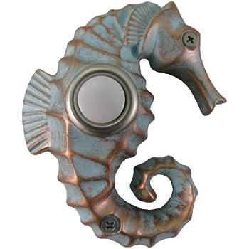 Waterwood Handpainted Seahorse Doorbell Doorbell Push
