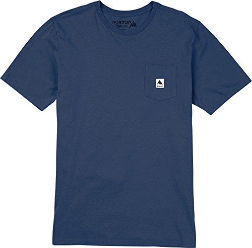 - Burton Colfax Short Sleeve Tee, Mood Indigo, Large
