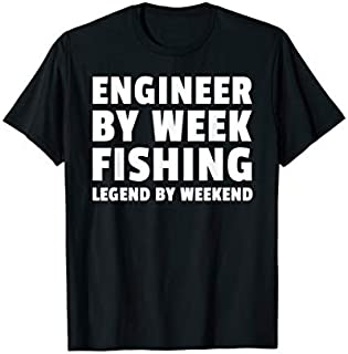 Cool Gift Engineer By Week Fishing Legend By Weekend Fishing  Women Long Sleeve Funny Shirt / Navy / S - 5XL