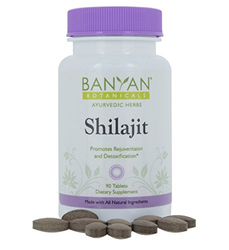 Banyan Botanicals Shilajit - Genuine Black Resin Mineral Pitch - 90 tablets - Sustainably Sourced - Promotes Vibrant Energy & Vitality*