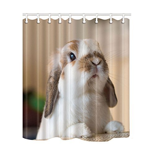 NYMB House Decor Cute White Rabbit Shower Curtain in for sale  Delivered anywhere in USA