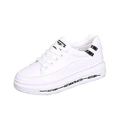 GUNAINDMX Thick Soles/White Shoes/Shoes/All-Match/Flat/Shoes/Spring/Tie/Shoes