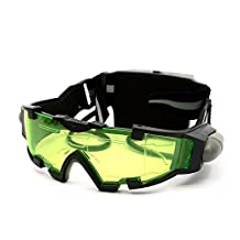 Night Vision Goggles with Flip-out Lights Adjustable Elastic Band Goggles Ski Snow Goggles Snowboard Goggles Protective Glasses