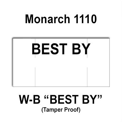 255,000 Monarch compatible 1110 ''Best By'' White General Purpose Labels to fit the Monarch 1110 Price Guns. Full Case + includes 15 ink rollers. by Infinity Labels