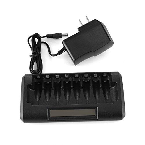 RayHom 8 Bay Smart LCD AA, AAA Ni-MH Ni-Cd Battery Charger