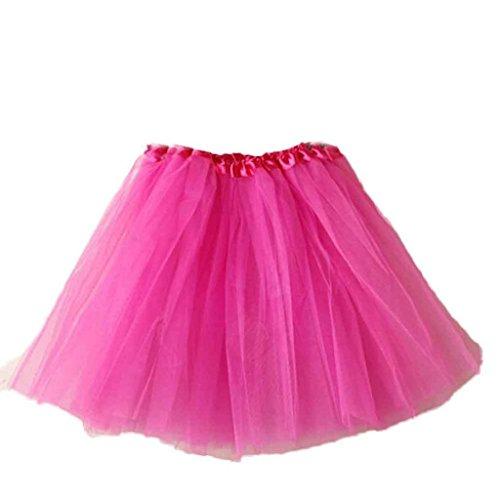 Vovotrade? Mode Femmes Ballet Tutu Layered Organza Dentelle mini Jupe Rose chaud