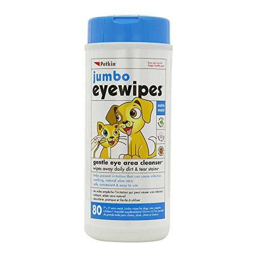 Petkin Jumbo Eye and Ear Wipes (Pack of 80 wipes)