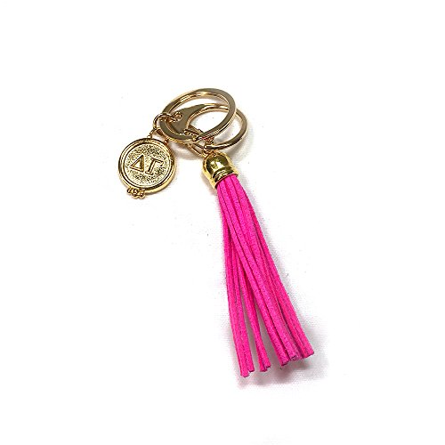 Delta Gamma Sorority Fringe Tassel Keychain with Letters Key Attachment dg