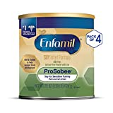 Enfamil ProSobee Soy-Based Infant Formula - Lactose Free for Sensitive Tummies - Powder Can, 22 oz (Pack of 4)