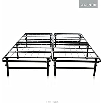 structures highrise lt foldable bed base platform bed frame and box spring in one no assembly required queen