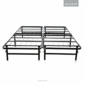 structures foldable bed base platform bed frame and box spring in one quick easy setup twin xl - Bed Base Frame