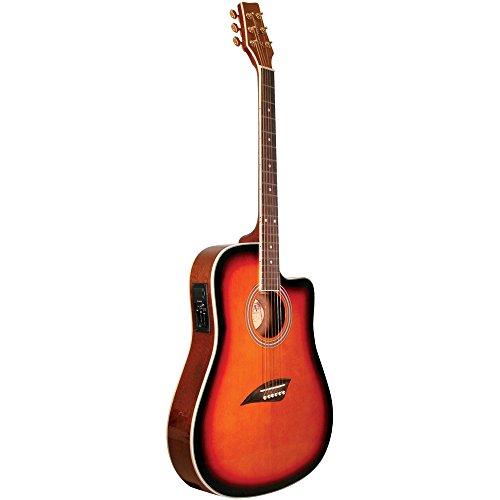 (Kona K2 Series Thin Body Cutaway Acoustic Electric Guitar, Sunburst (K2SB))