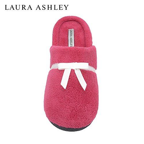 laura-ashley-ladies-soft-terry-slip-on-slippers-azalea-size-m