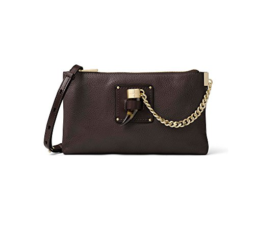 MICHAEL Michael Kors James Large Zip Clutch Coffee Goldtone by Michael Kors